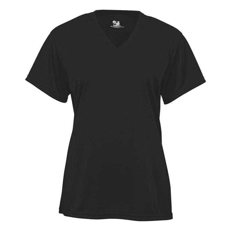 Badger Women's B-Core V-Neck Jersey - Black