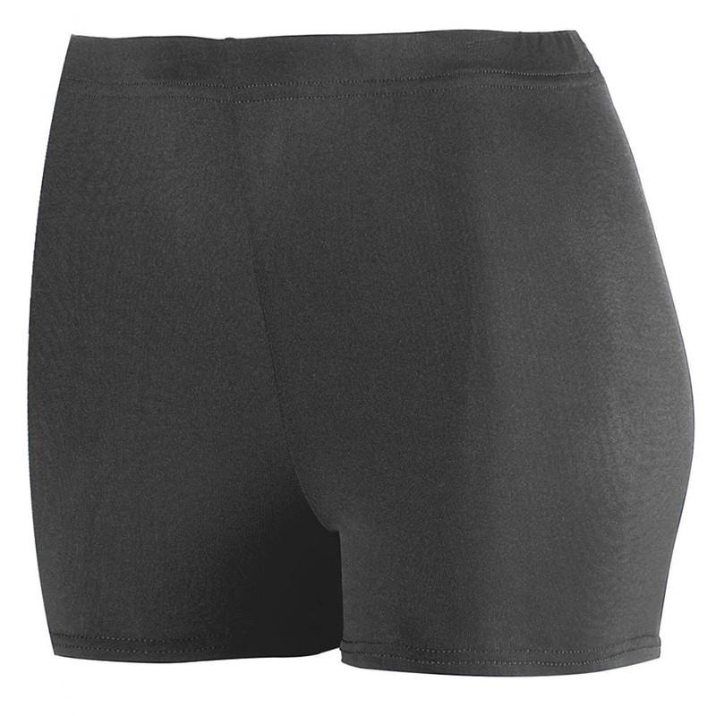 Augusta Women's Poly Spandex 2.5-Inch Shorts - Black