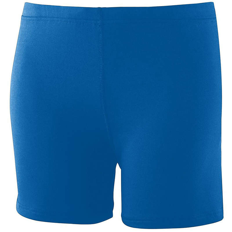 Augusta Women's Poly Spandex Shorts - Royal