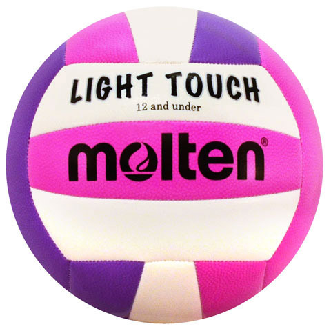 Molten Light Touch Volleyball- Violet/Pink