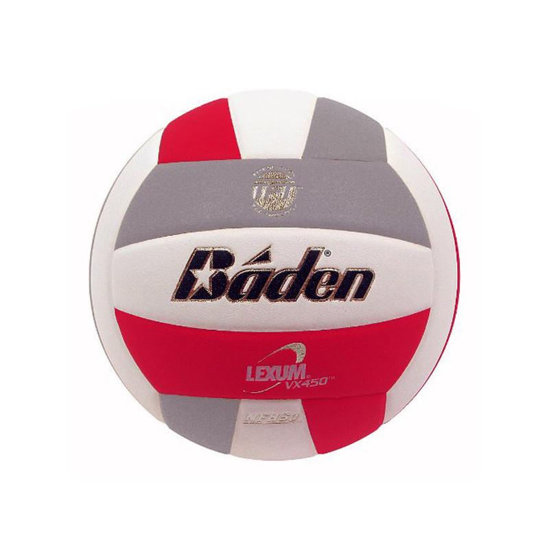 Baden Lexum Comp VX450 Volleyball - Red/Grey