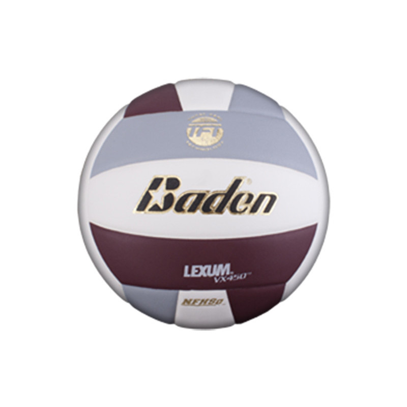 Baden Lexum Comp VX450 Volleyball - Maroon/Grey