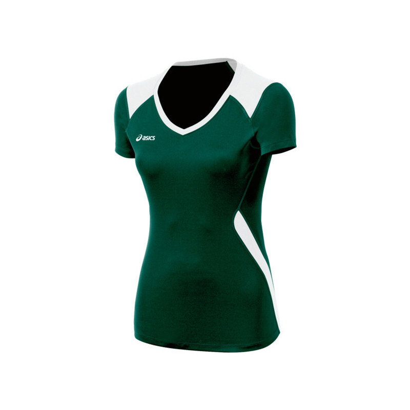 Asics Women's Jr. Set Jersey - Forest Green/White