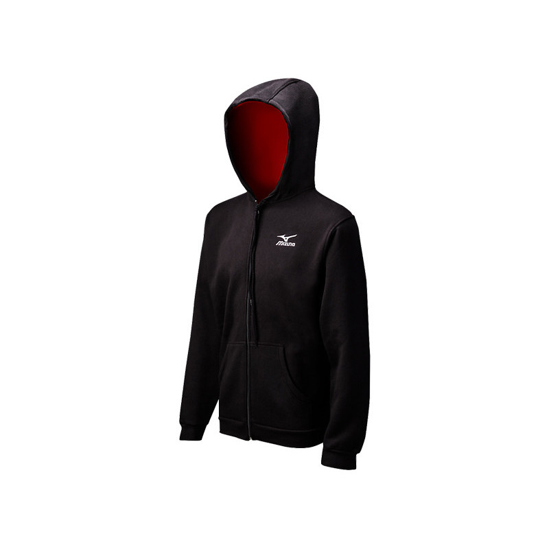 Mizuno Men's Full Zip Hoody - Black/Red