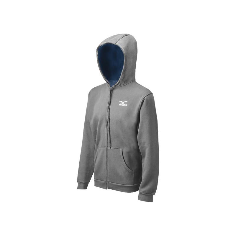 Mizuno Men's Full Zip Hoody - Grey