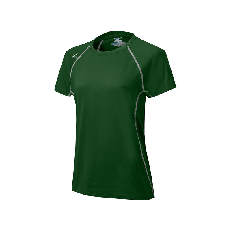 Mizuno Women's Balboa 3.0 Short Sleeve Jersey - Forest