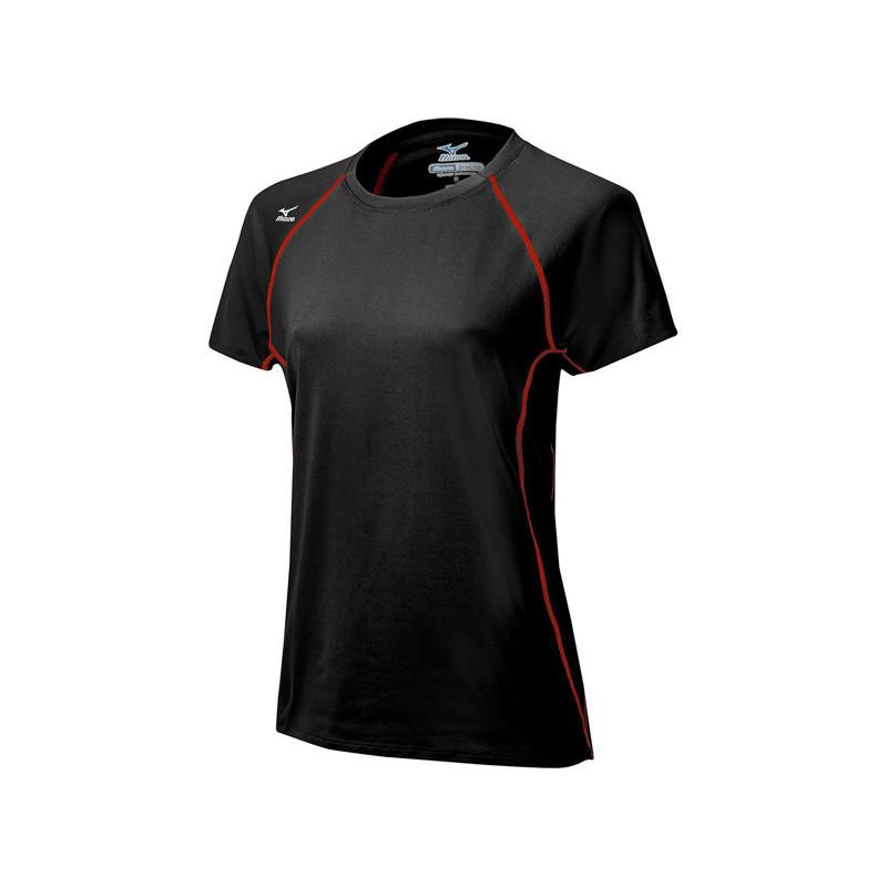 Mizuno Women's Balboa 3.0 Short Sleeve Jersey - Black/Red