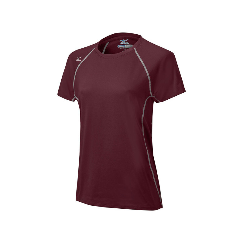 Mizuno Women's Balboa 3.0 Short Sleeve Jersey - Maroon