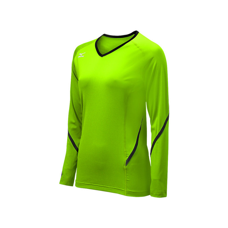 Mizuno Youth Techno Generation Long Sleeve Jersey - Electric Green