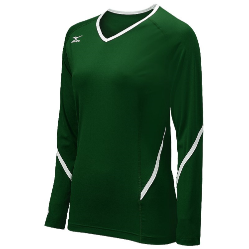 Mizuno Youth Techno Generation Long Sleeve Jersey - Forest/White