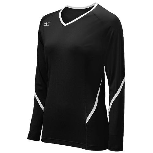Mizuno Youth Techno Generation Long Sleeve Jersey - Black/White