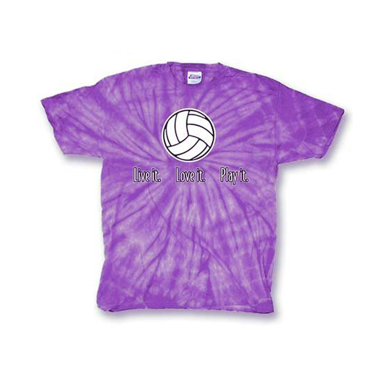 Live It Volleyball Tie Dye T-Shirt