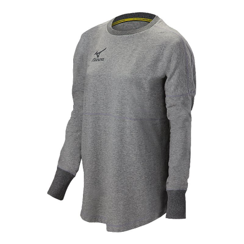 Mizuno Women's Hitter's Pullover- Heathered Light Grey