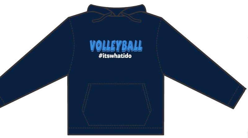 Hashtag Volleyball Hoodie- Navy