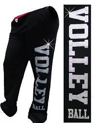 Glitter Volleyball Sweatpant- Black