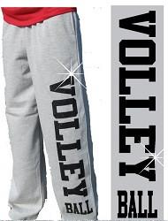 Glitter Volleyball Sweatpant- Grey