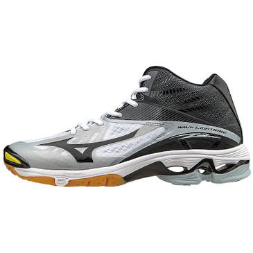 Mizuno Men's Wave Lightning Z2-MID - White-Black