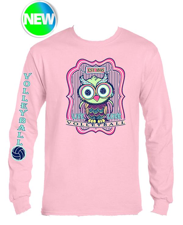 VB Owl LS T-Shirt- Pink