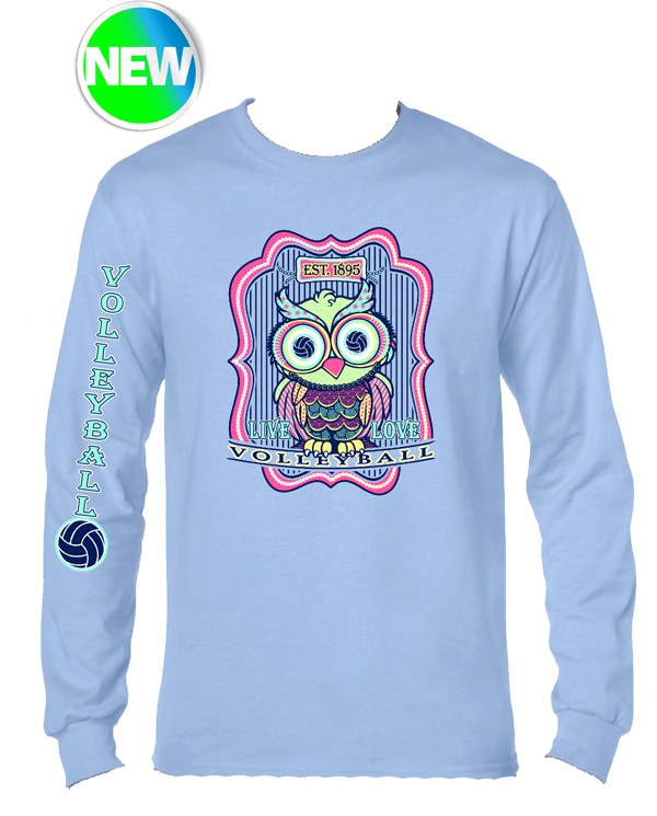 VB Owl LS T-Shirt- Light Blue