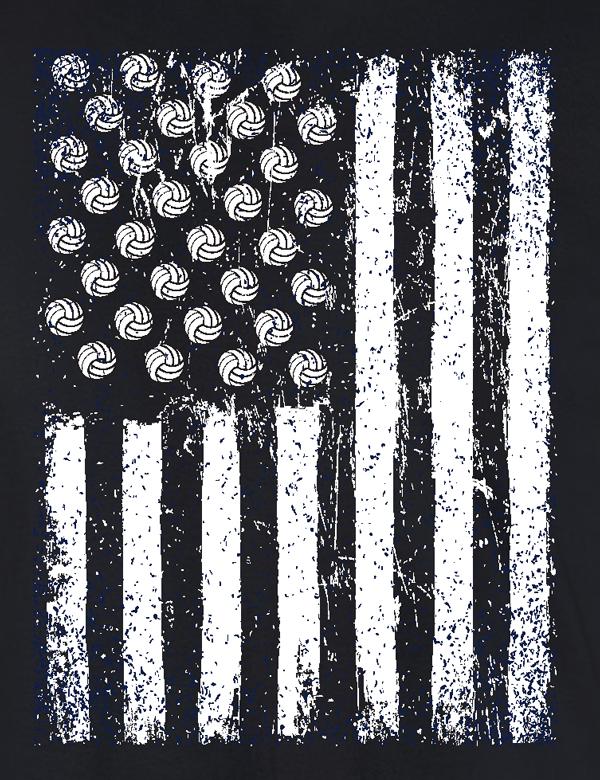 USA VB Flag- Full Front Design
