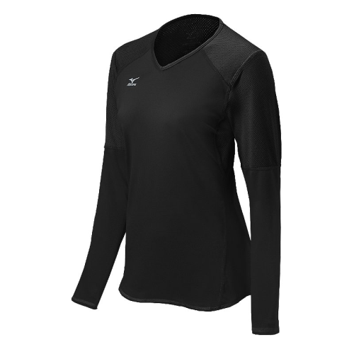 Mizuno Women's Techno Volley VI LS Jersey- Black