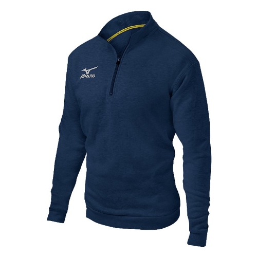 Mizuno 1/2 Zip Fleece Pullover- Heathered Navy