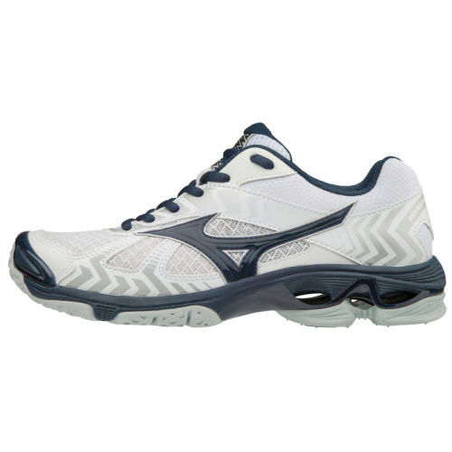 Mizuno Women's Wave Bolt 7 - White/Navy