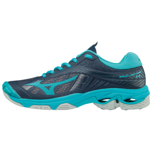 Mizuno Women's Wave Lightning Z4 - Navy/Acqua