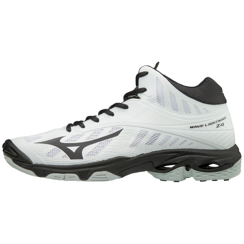 Mizuno Men's Wave Lightning Z4- MID - White/Black
