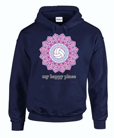 My Happy Place Hoodie- Navy