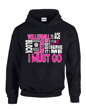 Volleyball is Calling Hoodie-Black