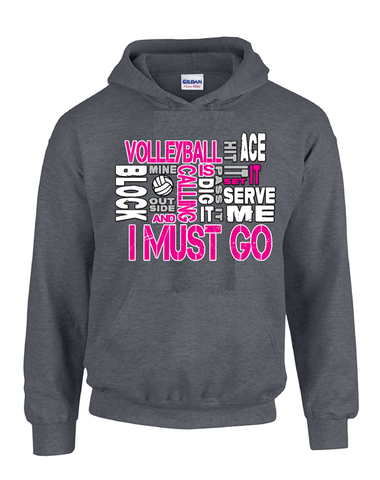 Volleyball is Calling Hoodie-Dark Heather
