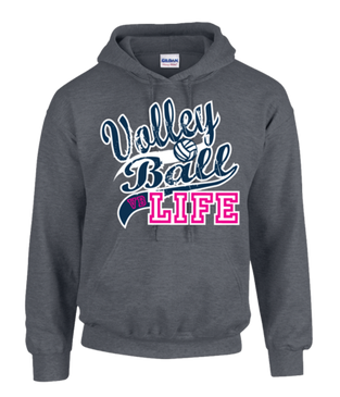 Volleyball Life Hoodie- Dark Heather