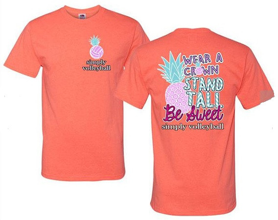 Pineapple Volleyball SS- Coral