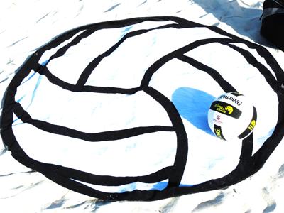 Volleyball Beach Towel-Round