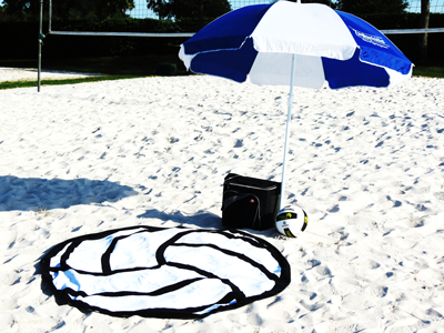 Volleyball Beach Towel-Round