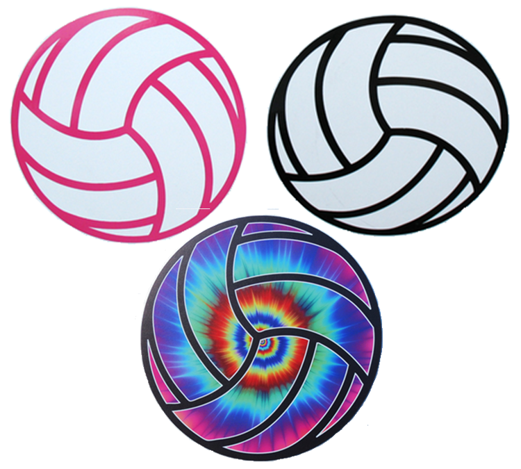 Round Volleyball Magnet