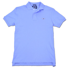 Men's Classic Boat Tie Polo Shirt - Light Blue