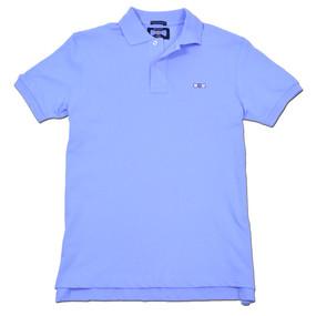 Men's Classic Boat Tie Polo Shirt - Light Blue