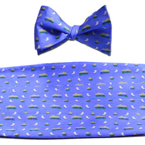 The Tiki Lounge Cummerbund & Bow Tie Set - Blue