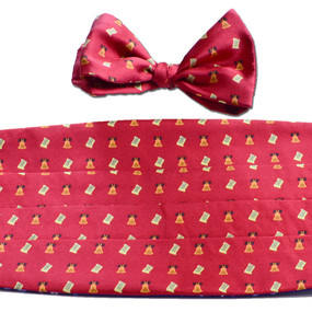 Bell of Rights Cummerbund & Bow Tie Set - Red