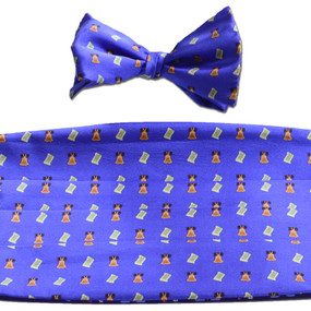 Bell of Rights Cummerbund & Bow Tie Set - Blue