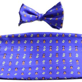 Bell of Rights Cummerbund & Bow Tie Set - Blue
