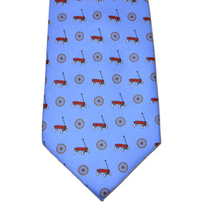 Wagon Wheel Tie - Blue