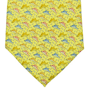 Vineyard Vines Fish Neck Tie - Yellow