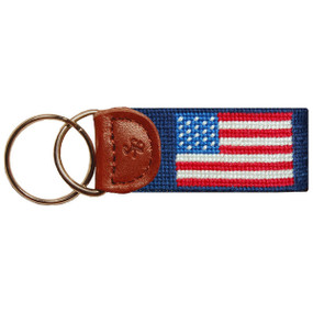 Smathers and Branson American Flag Key Fob - Navy Blue