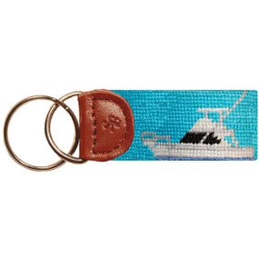 Smathers and Branson Sportfishing Boat Key Fob - Blue