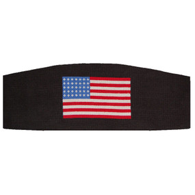 Smathers and Branson American Flag Needlepoint Cummerbund - Black