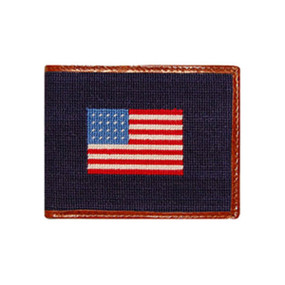 Smathers and Branson American Flag Bi-Fold Wallet - Navy Blue