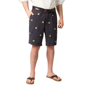 Cisco Embroidered Shorts with Shamrock - Navy